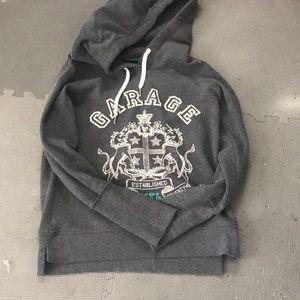 Grey garage hoodie